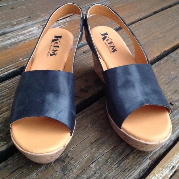 c6ed63ca77f Kork Ease Korks Wedge Platform Sandals Leather